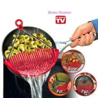 """Универсальный дуршлаг-накладка для слива воды Better Strainer """"Беттер Страйнер"""""""
